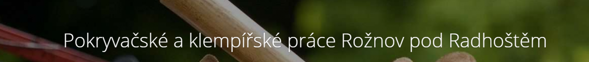 Logo firmy: Petr Mičkal - pokrývačské a klempířské práce