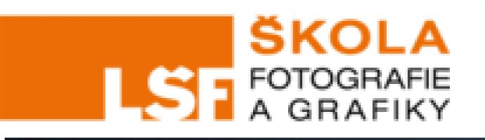 Logo firmy: LŠF, kurzy fotografování a grafiky
