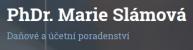 Logo firmy: PhDr. Marie Slámová - daňové a účetní poradenství