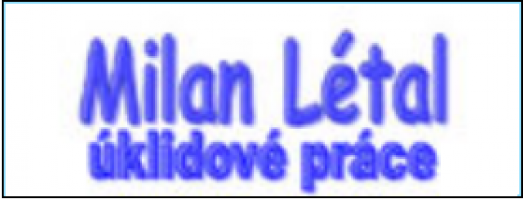 Logo firmy: Úklidové práce - Milan Létal