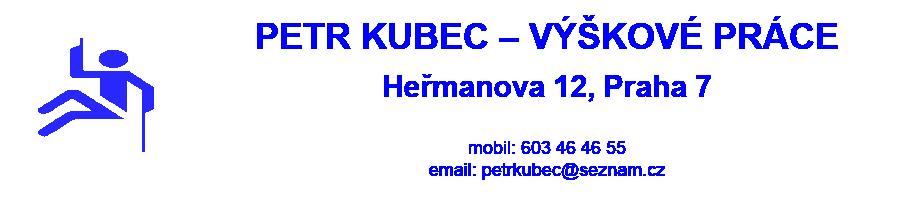 Logo firmy: Petr Kubec - výškové práce