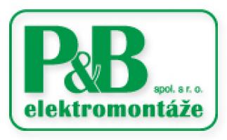 Logo firmy: P+B elektromontáže,spol. s r.o.