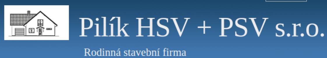Logo firmy: Stavební firma Pilík HSV + PSV s.r.o