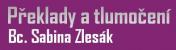 Logo firmy: Překlady a tlumočení - Bc. Sabina Zlesák