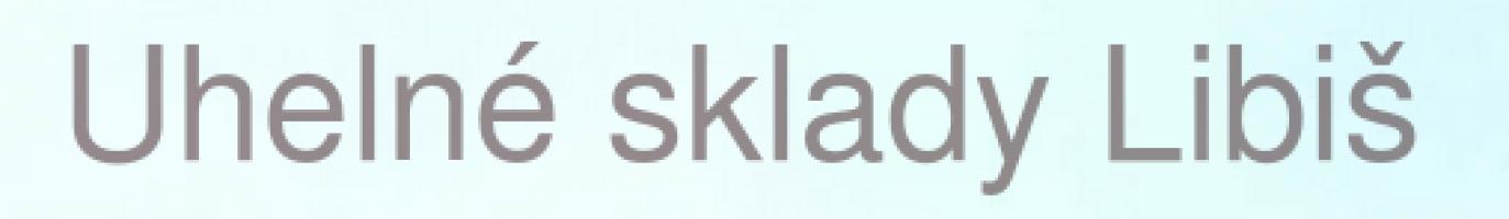 Logo firmy: Uhelné sklady Libiš