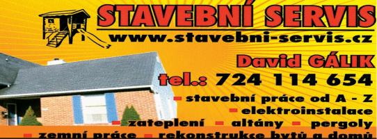 Logo firmy: Stavební servis - David Gálik