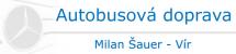 Logo firmy: Milan Šauer - autobusová doprava