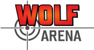 Logo firmy: WOLF ARENA - laser game, NERF arena, virtuální realita